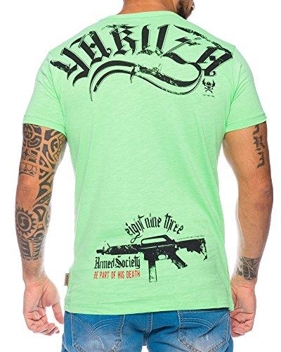 YAKUZA Herren T-Shirt Armed Society Streetwear Grün