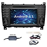 YINUO 7 Zoll 2 Din Android 7.1.1 Nougat 2GB RAM Quad Core Autoradio Moniceiver DVD GPS Navigation für Mercedes-Benz C-Class W203 / Benz CLK W209...
