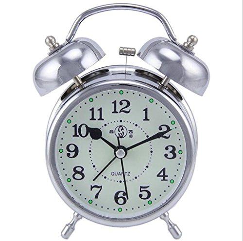 Longless Quarz Glocke Wecker Scannen stumm Schlafzimmer Arbeitszimmer leuchtend retro Bett Tisch Uhr 9*5*12CM