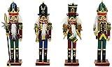Sigro 4verschiedene Nussknacker Alte Deutsche Figur, 18x 3,5x 5cm, Mehrfarbig