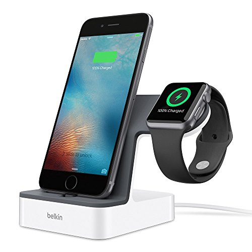 Belkin PowerHouse 2-in-1 Ladestation (geeignet für die Apple Watch und das iPhone mit 1,2 m-Ladekabel) weiß (Iphone-apple Watch)