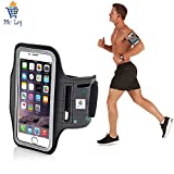 #1: Mc Loj Hand Arm Band Case for Gym Jogging Armband For Samsung Note 2 and 3, Iphone 6 and 6S, HTC,Sony, Intex, LG, Microsoft And All Compatible with Smartphones 5.7 Inch (Armband for phone)