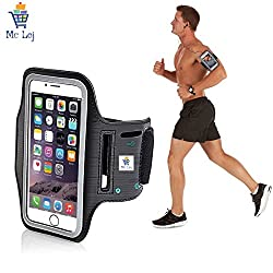 Mc Loj Hand Arm Band Case for Gym Jogging Armband For Samsung Note 2 and 3, Iphone 6 and 6S, HTC,Sony, Intex, LG, Microsoft And All Compatible with Smartphones 5.7 Inch (Armband for phone)