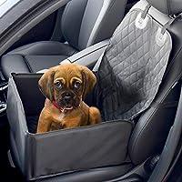 Cubierta de asiento de coche 2 en 1 perro elevador | Portador de cachorros de vehículo