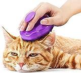 Luxuriöse Katzenbürste mit extra weichen Silikon-Borsten – Massagebürste für Kurzhaar & Langhaar Katzen