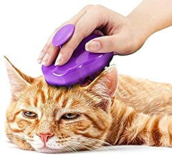 Cat Brush with Extra Soft Silicone Pins - Grooming & Shedding Massage Brush for Short & Long Hair