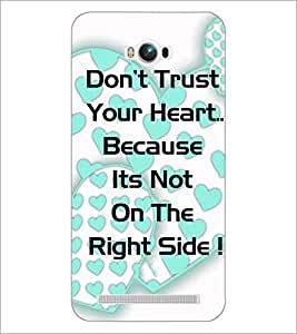 PrintDhaba Quote D-4904 Back Case Cover for ASUS ZENFONE MAX ZC550KL (Multi-Coloured)
