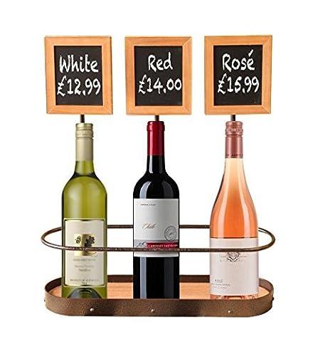 Wine Rack Bottle Holder Display Chalk Board by Chabrias Ltd