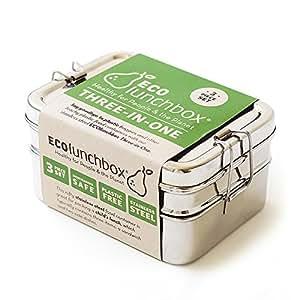 ECOlunchbox Three-in-One, 3-teilige Brotdose aus Edelstahl