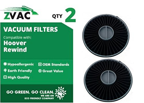 Aufrecht Auspuff-filter (ZVac 2Hoover Elite Rücklauf Bagless aufrecht Auspuff Filter Montage 59157014passt u5509900, u5511900, u5507900, u5512900, u5509950, und u5507950 GO Vakuum)