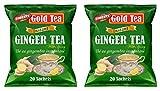(Pack of 2) Gold Tea Instant Ginger Tea with Honey 360g (20 Sachets)
