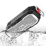 Honstek K9 Portable Bluetooth Lautsprecher Kabelloser Bluetooth Box mit 20W Lautsprecher, Super Bass, Wasserdicht IPX7, 30 Stunden Standby-Zeit für Strand, Fahrradfahren, Klettern, Outdoor Schwarz