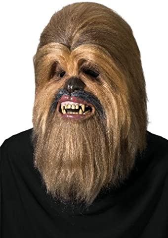 Super Deluxe Chewbacca Latex Overhead Mask - One