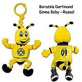 Borussia Dortmund Plüsch - Babyrassel / Kuscheltier / Plüschtier Emma 23 cm BVB