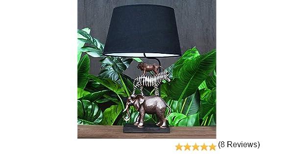 z/èbre Lion Animaux Lampe de Table Voss Design /Él/égante Lampe de Table Safari 70/cm /él/éphant