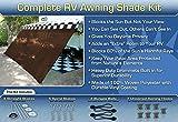 RV Awning Shade Motorhome Awning Screen Kit 8x16 (Brown)