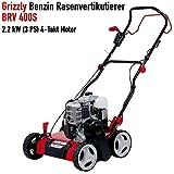 Grizzly Benzin Vertikutierer BRV 400 Robustes Stahlgehäuse starker 131 cc 4 Takt OHV Motor 2.2kW 3PS 40 cm Arbeitsbreite mit Vertikutierwalze