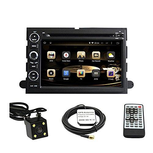 tltek 17,8cm HD 1024* 600muti-touch Bildschirm Auto GPS Navigation System für Ford Fusion 2006–2009/FORD EXPLORER 2006–2010/FORD F1502004–2008/Ford Focus 2004–2007/FORD EDGE 2007–2010/FORD EXPEDITION 2007–2010/FORD MUSTANG 2007–2009/FORD FREESTYLE 2005–2007Android DVD Player + Backup Kamera + EU Karte