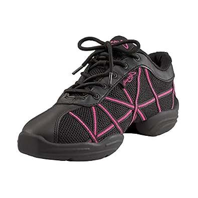Capezio DS19 Web Dance Trainer Black / Hot Pink UK 2 EU 35 US 4