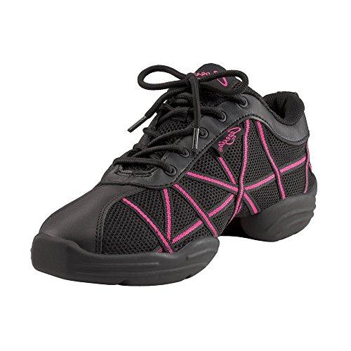 Capezio Web Dance Damen Sneaker Schwarz Lack