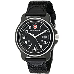 Victorinox 249087 - Reloj de pulsera hombre, Nailon, color Negro