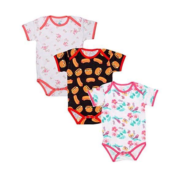 Sofie & Sam Body de algodón orgánico Combinado, Mono de bebé, Mono de Mameluco para niños de 12 a 18 Meses - Burger… 1
