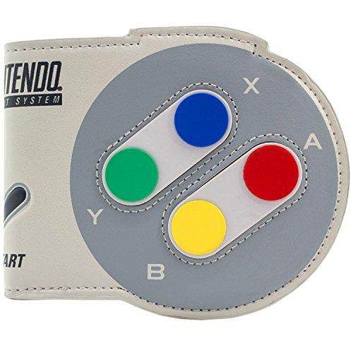 Nintendo SNES Neuheit Controller geformt Grau Portemonnaie Geldbörse