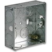 Metal Back box 1Gang 25mm
