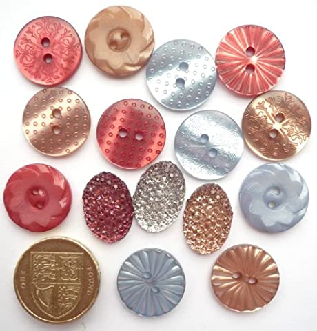 Au Jardin Vintage - Antique Style - Novelty Craft Buttons & Embellishments by Dress It Up