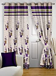 Story at Home Door Curtain, Brown, 118cm X 215cm, Dbr4014