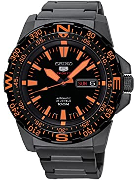 Seiko Herren-Armbanduhr XL  Analog Automatik Edelstahl beschichtet SRP547K1