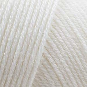 Adriafil Genziana 4ply 100% Merino Wool Yarn: 02 White