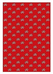 Ursus 10 Hojas de cartulina fotográfica 60950008, diseño de Rosas, 300 g/m², Aprox. 23 x 33 cm, para decoración, Paquete de Regalo y diseño de Tarjetas, Color Rojo rubí