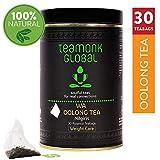 Teamonk Nilgiri Oolong Tea, 75 g (38 Copas) | Té 100% natural de hojas sueltas | Té Wa Oolong para bajar de peso | Té de hoja entera | Sin aditivos