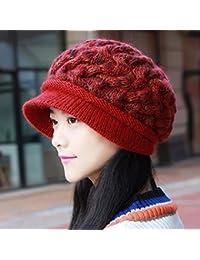 Sombrero De Mujer Sra. Cap Gorra De Invierno Acolchada De Tela De Punto  Gorro De 01a87b998b5