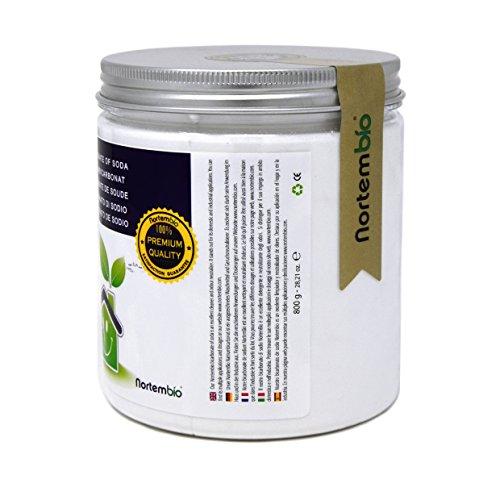 prezzo Nortembio Bicarbonato di sodio 800 g, Input per la Produzione Biologica, Senza Alluminio, Qualità Premium, 100% Naturale. Sviluppato in Italia.