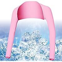 Hairwilly Advanced - Brazo de refrigeración anti UV para mujer, protección solar, cómodo y transpirable, para deportes al aire libre y de golf, rosa, Medium