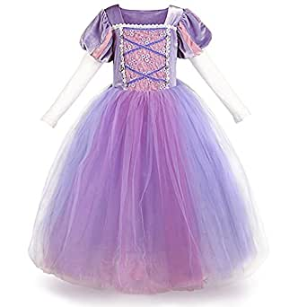 706a0ff88e24c IWEMEK Carnival Costume 2019 Sofia The First Rapunzel Princess Dress Up  Cosplay Little Girls Halloween Christmas Birthday Long Prom Ball Gown Photo  ...