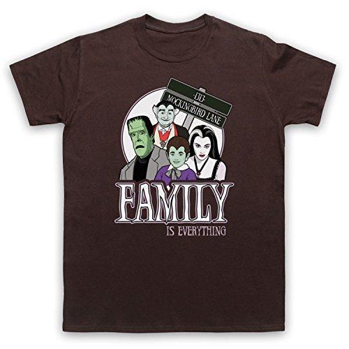 Inspiriert durch Munsters Family Unofficial Herren T-Shirt Braun