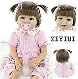 ZIYIUI Realistica Bambola Reborn Baby Doll Silicone 22pollice 55cm Bambino Bambini Appena Nati Bambole Regalo di Compleanno Giocattolo Regali di Natale