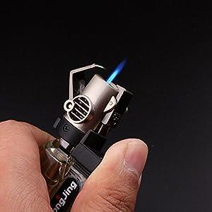 galaksy Men's Mini Jet Refillable Butane Gas Windproof Spray Torch Cigarette Lighter with Key Chain Gadgets