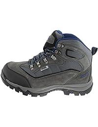 Hi-Tec Keswick para hombre Casual botas cordones zapatos de senderismo charcoal-navy, Charcoal/Navy, 12
