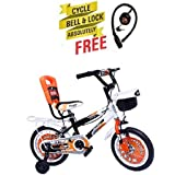Speed Brid 14-T NEXTRA With Back Carrier Kid Bicycle Baby Cycle For Boys & Girls - Age Groupe 3-6 Years (Orange)