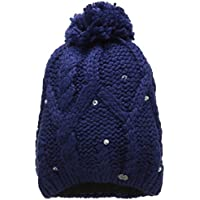 Roxy Tonic Beanie - Gorro con pompón para Mujer, Color Azul, Talla única