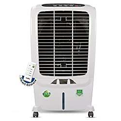 Kenstar Snowcool RE KCLSRF1W-FTE Plastic 55 L Woodwool Air Cooler with Remote (White)