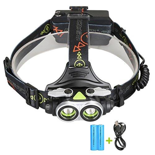 Preisvergleich Produktbild LED Kopflampe, TopTen Fan-Motive 4000Lumen Super Bright LED Scheinwerfer Head Light Taschenlampe mit Akku für Camping Jagd Wandern und Outdoor Aktivitäten