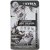 Lyra Rembrandt Art Design - Estuche metálico 12 lápices hexagonales de grafito artístico, con durezas desde 4H a 6B