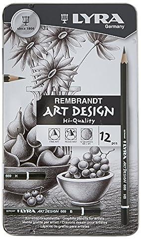 Lyra Art Design 669 1111120 Metal Case Containing 12 Pencils