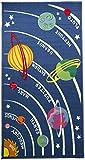 Flair Rugs Matrix Kiddy Planets Rug, Multi, 80 x 120 Cm
