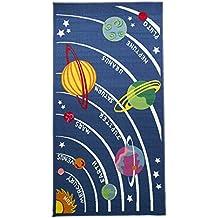 Flair Rugs - Alfombra con diseño de planetas para niños (100x190cm/Multicolor)
